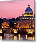 Vatican Twilight Metal Print by Brian Jannsen
