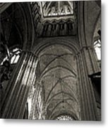 Vaults Of Rouen Cathedral Metal Print