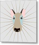 Vector Funny Head Of Dog On Vintage Metal Print