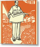 Vector Of Chairman Mao Related Poster Metal Print