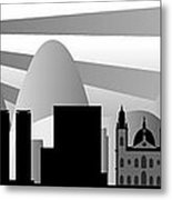 vector Rio skyline with ball Metal Print