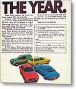 Vega - Car Of The Year 1971 Metal Print