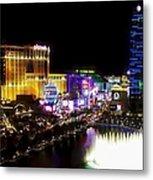 Vegas At Night Metal Print