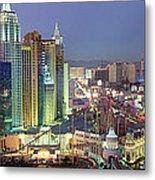 Vegas Skyline Metal Print