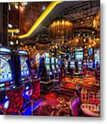 Vegas Slot Machines Metal Print
