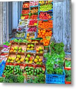 Vegetable And Fruit Stand Metal Print