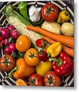 Vegetable Basket    Metal Print