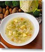 Vegetable Soup Metal Print