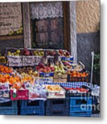 Vegetable Stand Italy Metal Print