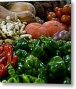 Vegetables In Chinese Market Metal Print