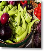Vegetables Organic Market Metal Print