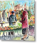Vegetables Seller In A Provence Market Metal Print