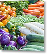 Vegetables Stand In Wet Market Metal Print