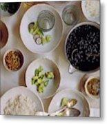 Vegetarian Dishes Metal Print