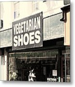 Vegetarian Shoes Metal Print