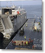 Vehicles Are Transferred Aboard Metal Print