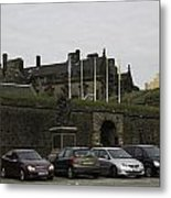 Vehicles At The Parking Lot Of Stirling Castle Metal Print