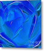 Veil Of Blue Metal Print