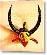 Vejigante Mask Metal Print by Lilliana Mendez