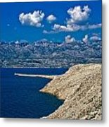 Velebit Mountain From Island Of Pag Metal Print
