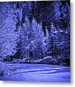 Velvet Winter - Vail - Colorado Metal Print
