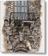 Venetian Balcony 02 Elena Yakubovich Metal Print