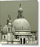 Venetian Basilica Salute Metal Print