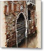 Venetian Door 03 Elena Yakubovich Metal Print