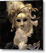Venetian Face Mask B Metal Print