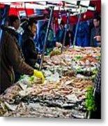 Venetian Fish Mongers Metal Print