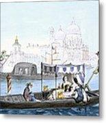 Venetian Gondola, From Vedute Dei Metal Print