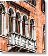 Venetian Houses In Italy Metal Print