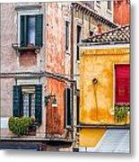 Venetian Houses. Italy Metal Print