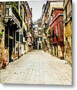 Venetian Street Metal Print