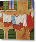 Venetian Washday Metal Print