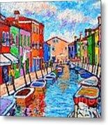 Venezia Colorful Burano Metal Print