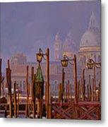 Venezia E La Nebbia Metal Print