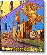 Venice Beach Posterized Metal Print