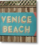 Venice Beach Sign Metal Print