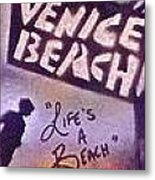 Venice Beach To Santa Monica Pier Metal Print by Tony B Conscious