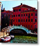 Venice Bow Bridge Metal Print