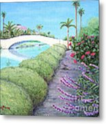 Venice California Canals Metal Print