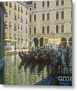 Venice Gondolas Metal Print