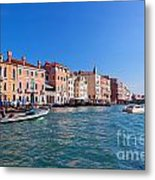 Venice Grand Canal View Italy Metal Print