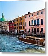 Venice Grand Canal View Italy Sunny Day Metal Print