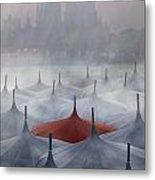 Venice In Rain Metal Print