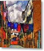 Venice Laundry 2 Metal Print by Cary Shapiro