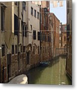 Venice Laundry Day Metal Print
