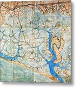 Venice: Map, 1546 Metal Print