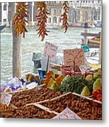 Venice Market Metal Print